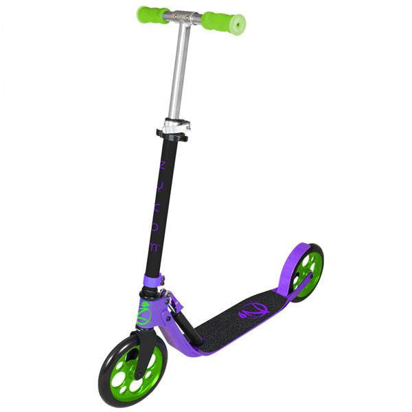 Zycomotion Easy Ride Purple Lime Green Push Scooter - Main View