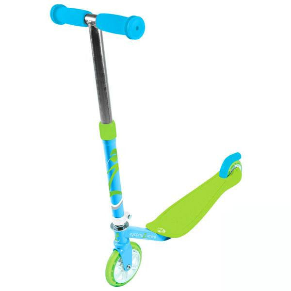 Zycomotion Mini Blue Green Push Scooter - Main View
