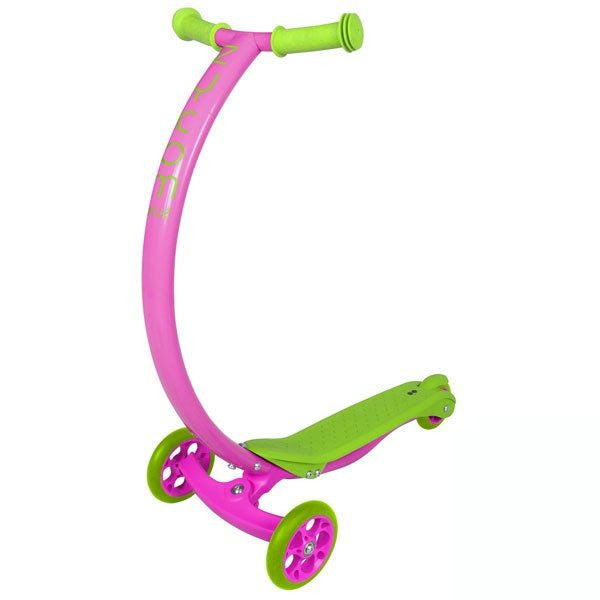 Zycomotion Cruz Pink Lime Green Push Scooter - Main View