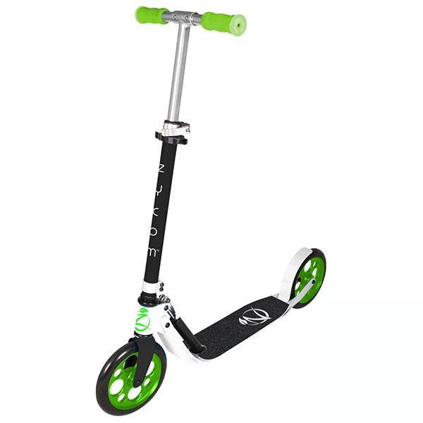Zycomotion Easy Ride Black White Lime Green Push Scooter - Main View