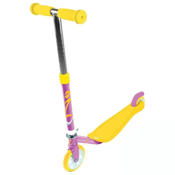 Zycomotion Mini Purple Yellow Push Scooter - Main View