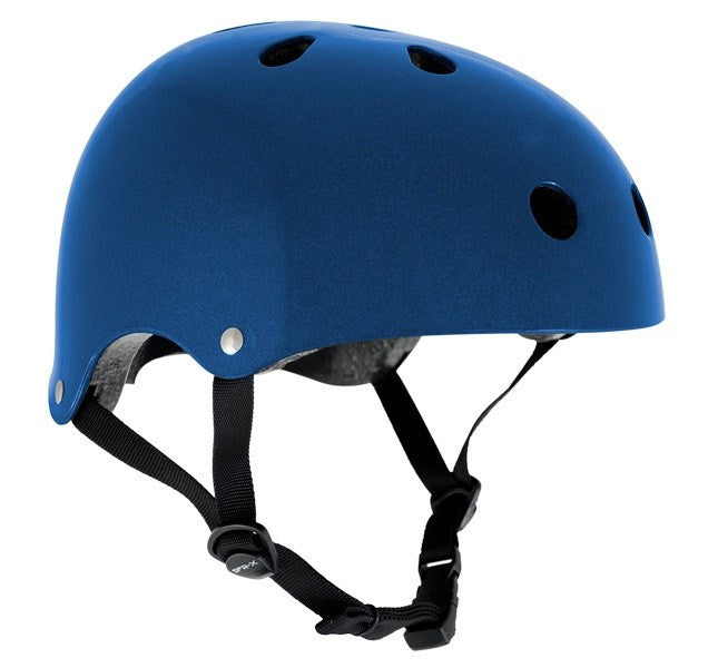 SFR Essentials Metallic Blue Adjustable Skate Bike Helmet - Main View