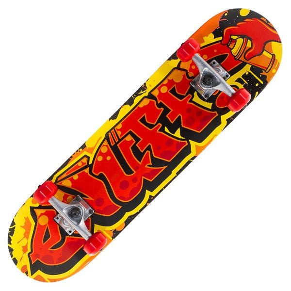 Enuff Graffiti II Red Yellow Complete Skateboard - Main View