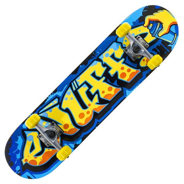 Enuff Graffiti II Yellow Blue Mini Complete Skateboard - Main View