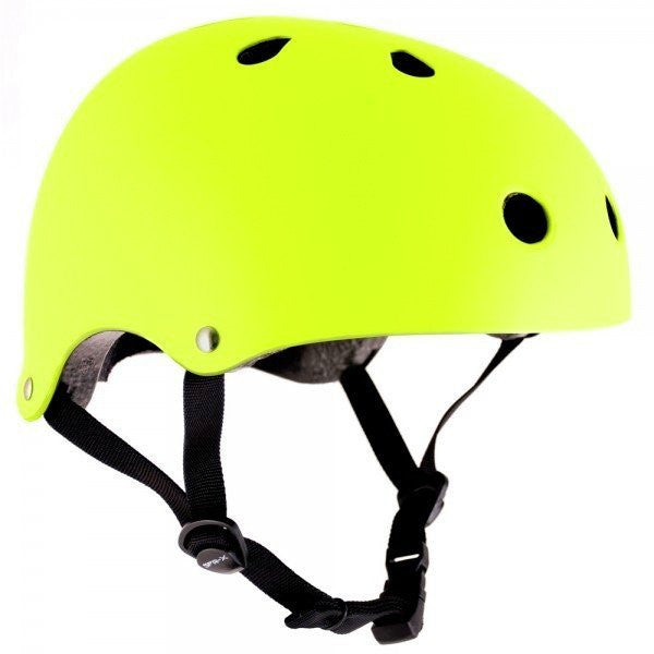 SFR Essentials Yellow Adjustable Skate Bike Helmet - Main View