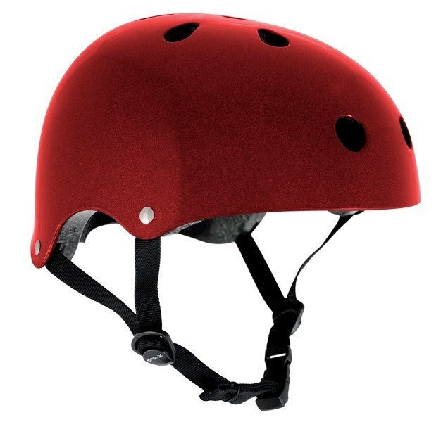 SFR Essentials Metallic Red Adjustable Skate Bike Helmet - Main View