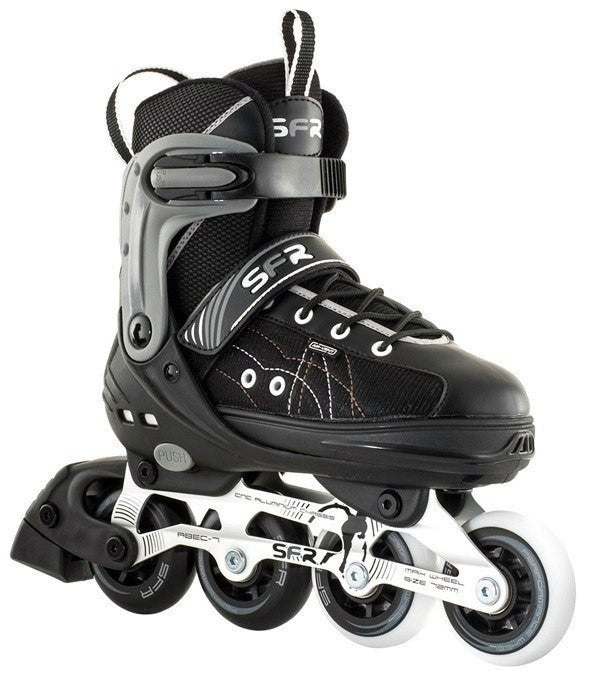 SFR RX-XT Kids Black Grey Adjustable Inline Skates - Main View