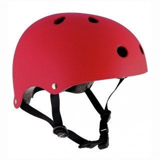 SFR Essentials Matt Red Adjustable Skate Bike Helmet - Main View