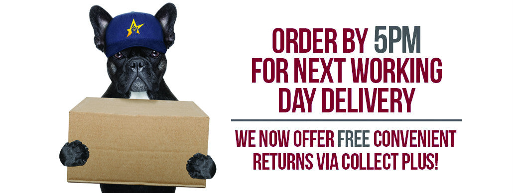 ORDER BEFORE 5PM FOR NEXT DAY DELIVERY!