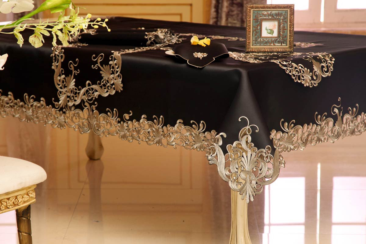 Design Black Tablecloth black negligee tablecloth the happy linens co for your table tablecloth
