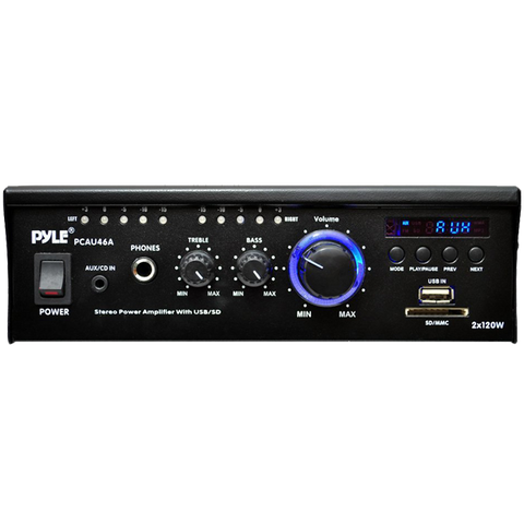 Pyle Mini Power Amplifier with LED Display