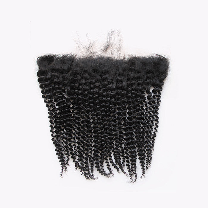 3B/3C Kinky Curly Lace Frontal Closure - Free Part