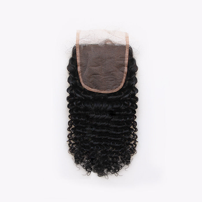 3B Curly Lace Closure - Free Part