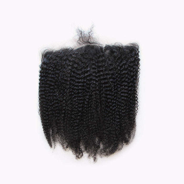 3C/4A Kinky Curly Lace Frontal Closure - Free Part