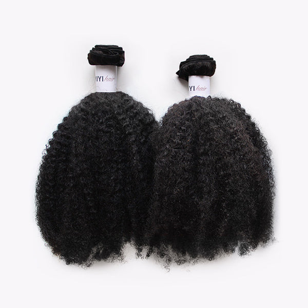 4B/4C Kinky Curly Texture (Afro) - 4 Bundles
