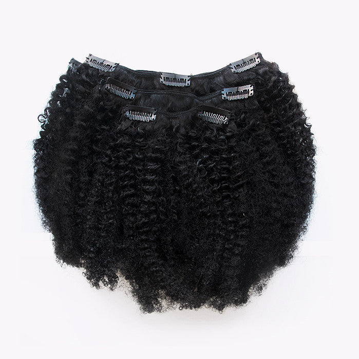 3C/4A Kinky Curly Texture Clips - 1 Set