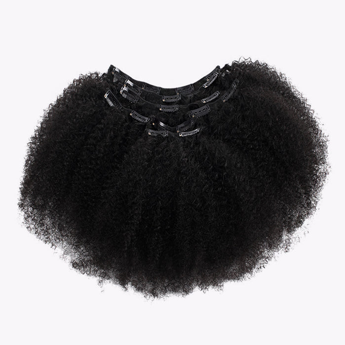 4B/4C Kinky Curly Texture (Afro) Clips - 2 Sets