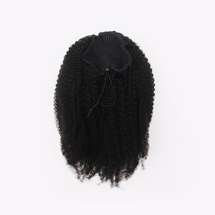 4B/4C Kinky Curly Texture (Afro) Drawstring Ponytail