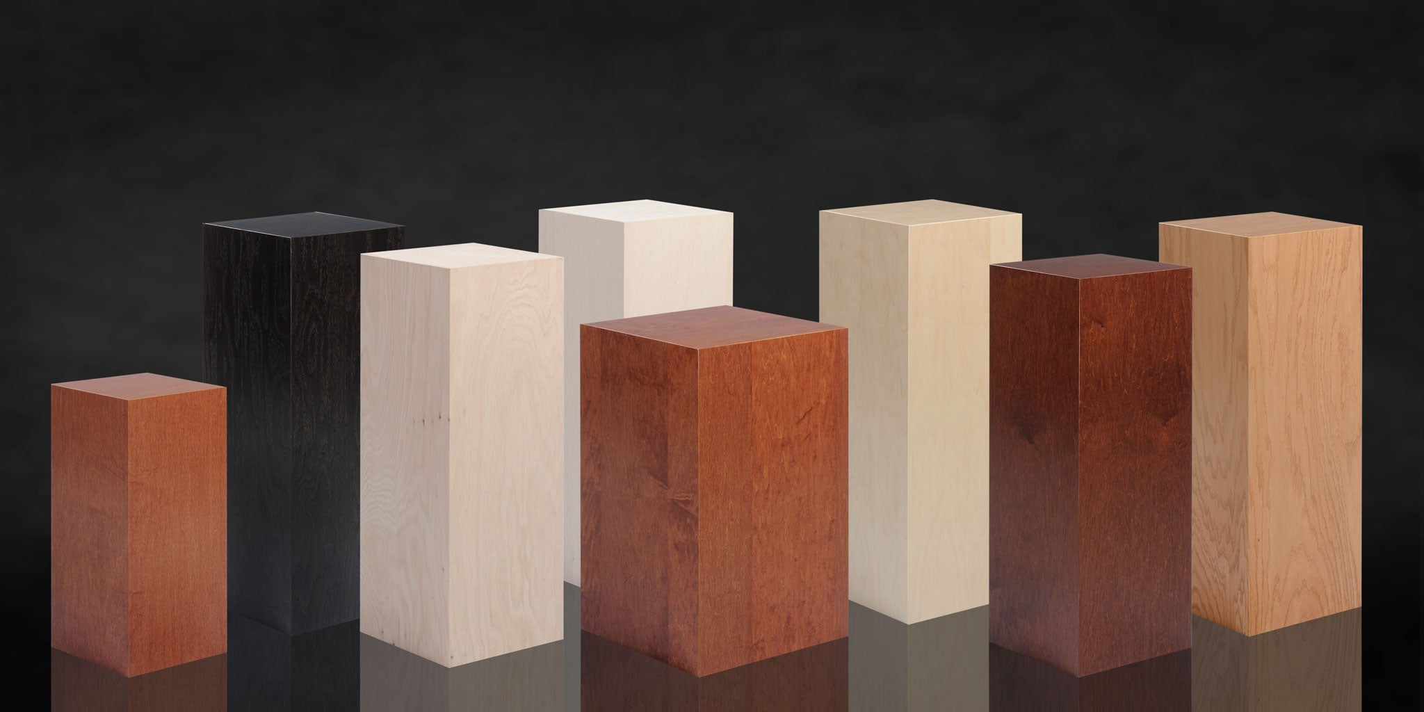 Display Pedestals by All Wood Pedestals