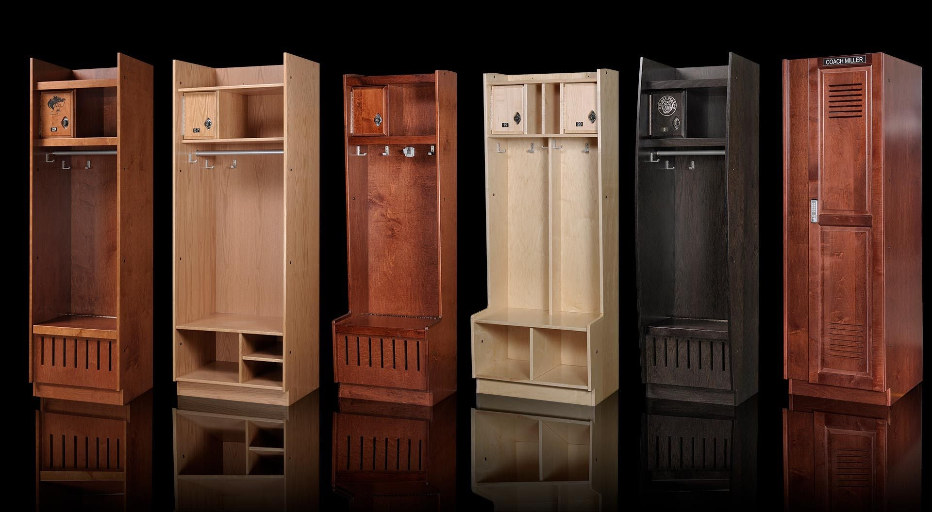 Wood Sports Lockers
