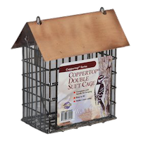 Coppertop Double Suet Feeder