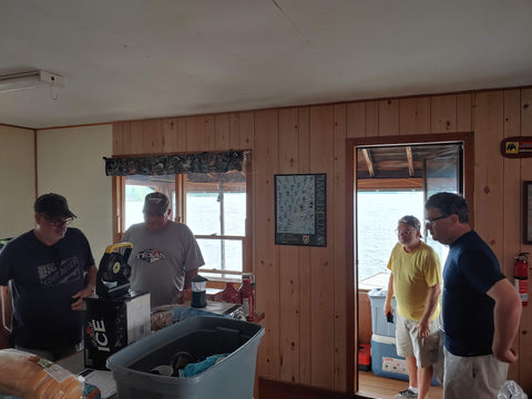 getting setup in our cabin before taking possession of our boats