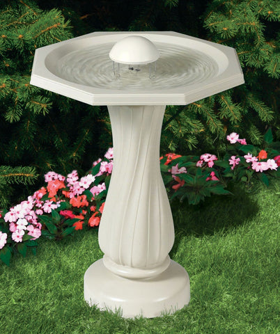 Water Rippling Bird Bath