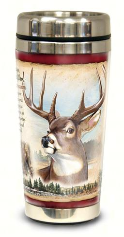 White Tail Deer Steel Mug