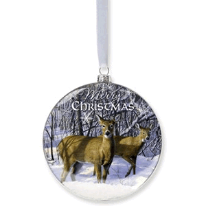 Deer Snow Ornament