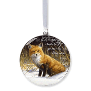 Fox Snow Ornament