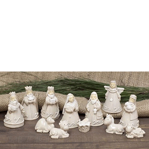 "Nativity 12 piece 1-3"" High Gloss Resin Reason to Rejoice"