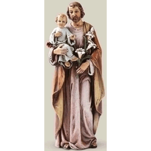 "St. Joseph With Christ Child 6.25"" Resin Statue"