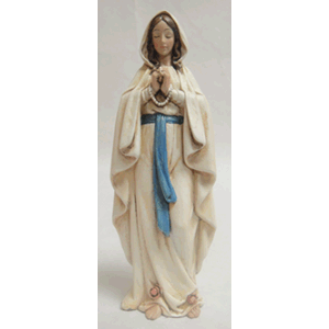 "Our Lady Of Lourdes Statue 6 1/4"" H"