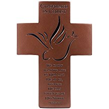 "7"" Confirmation Wall Cross - Confirmed in Christ 1 John 4:13"