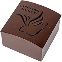 Confirmed in Christ Confirmation Bronze Resin Keepsake Box