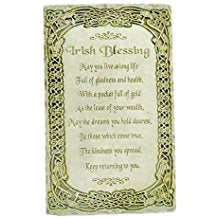 "Irish Blessing ""May You Live a Long Life"" Wall Plaque"