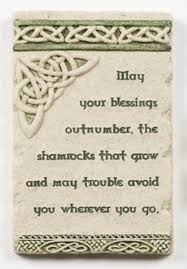 Irish Blessing Wall Plaque With Celtic Trinity Knot