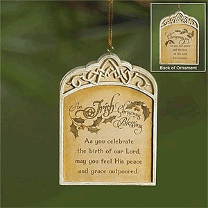 Christmas Joy Ornament - Irish Blessing