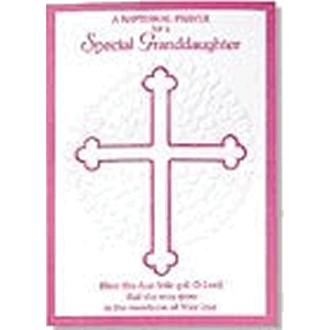 Special Granddaughter Baptism Greeting Card