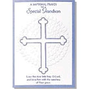 Special Grandson Baptism Greeting Card