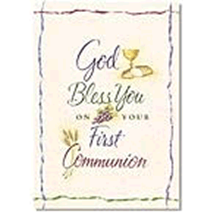 God Bless You On Your First Communion Greeting Cards