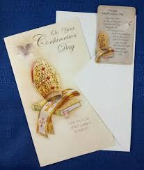 On Your Confirmation Day Greeting Card With Holy Card