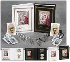 Girl's First Holy Communion Gift Set Including First Mass Book, Rosary, Scapular, and Lapel Pin
