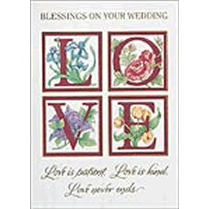 Love Wedding Greeting Card