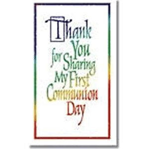 First Communion Thank You Package of Greeting Cards