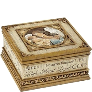 Angel with Baby Jesus Keepsake Box