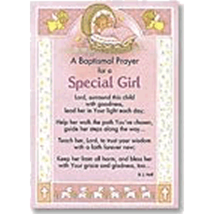 Baptism Prayer for Girl Greeting Card