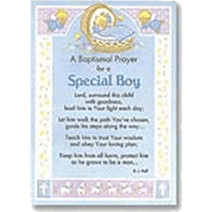 Baptism Prayer for Boy Greeting Card
