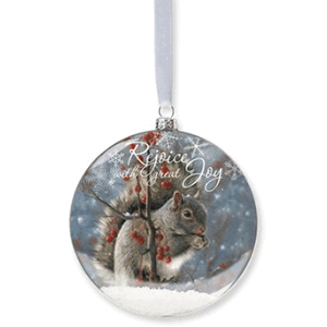 Squirrel Snow Ornament