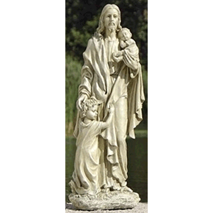 Jesus with Children Garden Statue